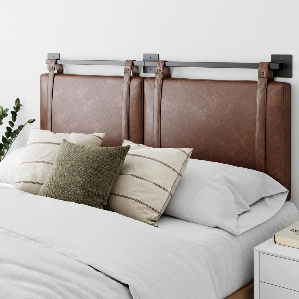 Harlow Is A Modern Adjustable Headboard Designed For Twin Full Queen King Or Cal Ki In 2020 Upholstered Headboard Gray Upholstered Headboard Wall Mounted Headboards
