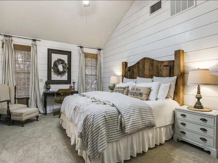 78 ideas about Farmhouse Master Bedroom on Pinterest Country