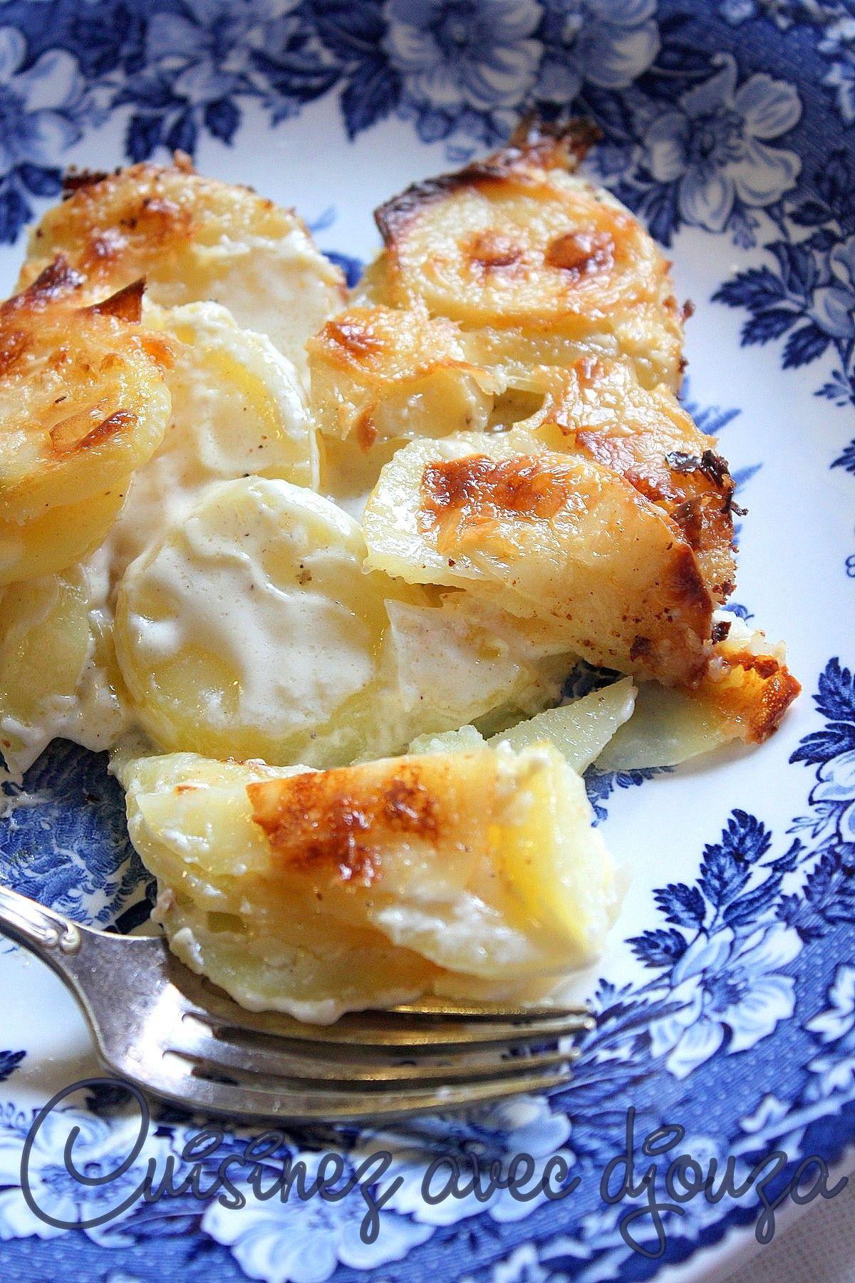Gratin dauphinois traditionnel sans fromage et à la crème