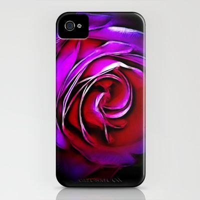 Rose Fractalius iPhone Case by F Photography and Digital Art - $35.00