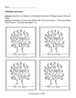 Arbeitsblatter Teddylingua Worksheets Teaching Weather Trees To Plant