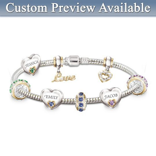 Forever In A Mother S Heart Personalized Birthstone Bracelet Bracelets