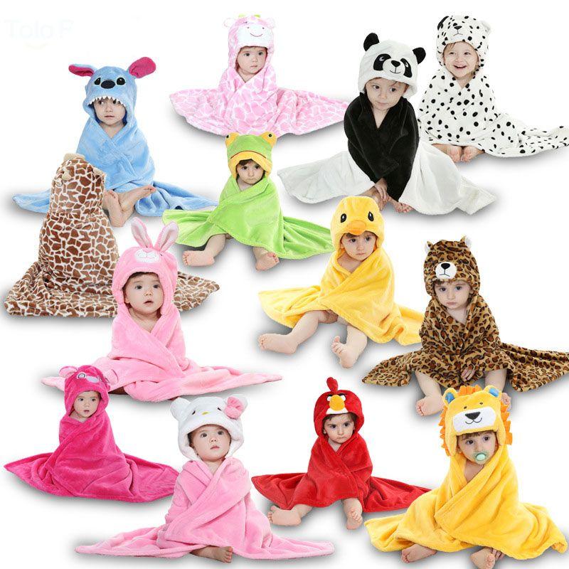 79b5c9955c4 Nuevo Anime animales manta de bebé recién nacido niño niña Infanti capa  chal cabo Wrap Cobertor Coral polar para los niños de la felpa con capucha  en Mantas ...