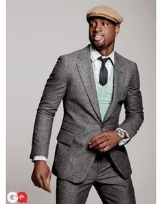 Dwyane Wade's Five Steps to Off-Court Style | Grey tweed suit