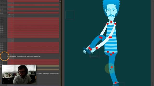 2D Character rig using puppet tools, scripts and expressions