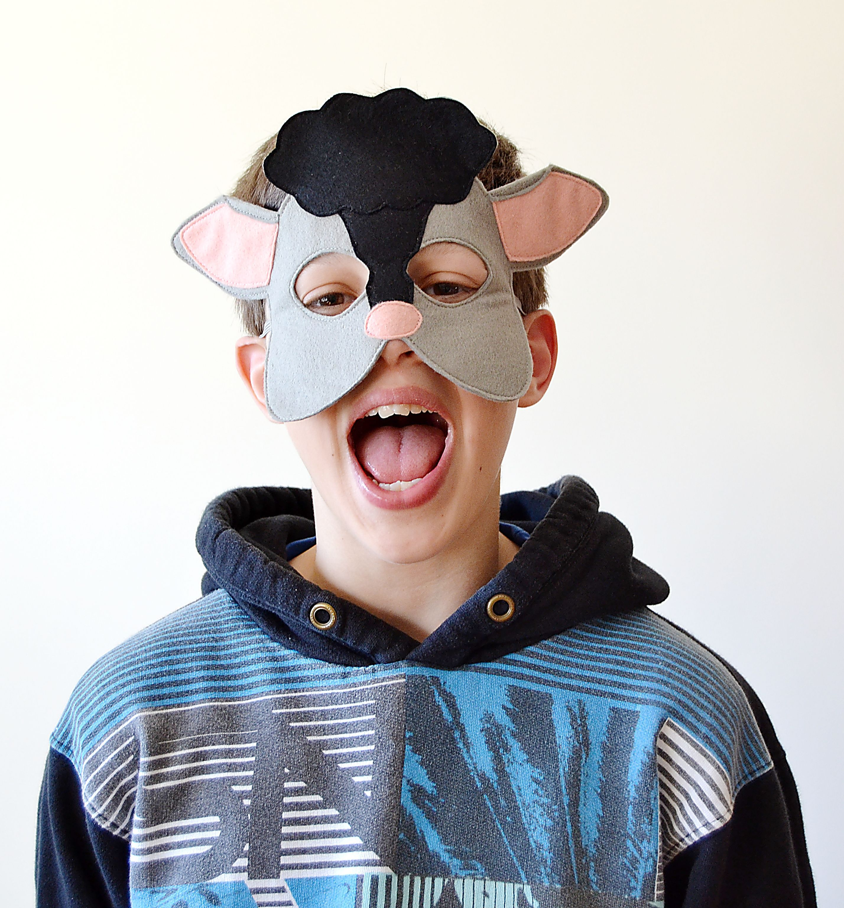 Black Sheep Mask | Mask for kids, Shops and Dress up