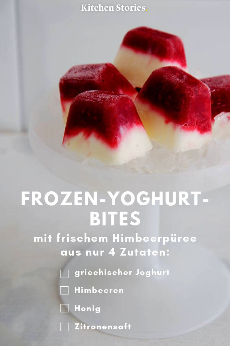 Photo of Frozen-Yoghurt-Bites mit Himbeeren | Rezept mit Video | Kitchen Stories