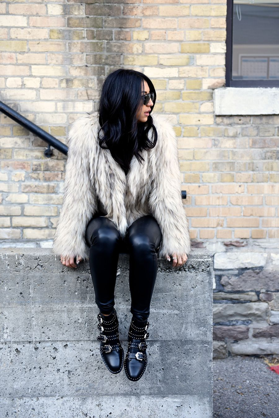Biker boots outfit