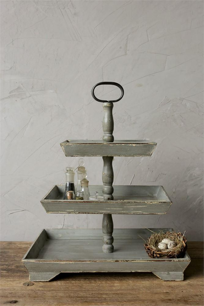 One Of Our Favorite Finds This Clic Style Distressed Wood Tiered Tray Is Perfect For So Many Uses Here Are Just A Few Suggestions Dessert Stand