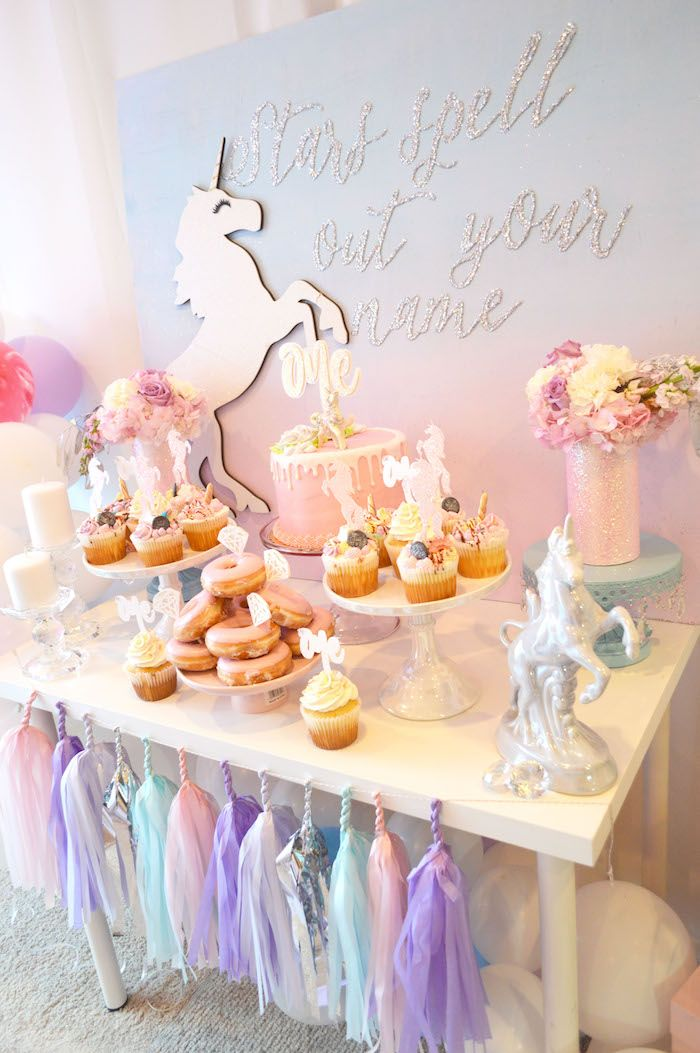Elegant Pastel Unicorn Soiree on Karas Party Ideas