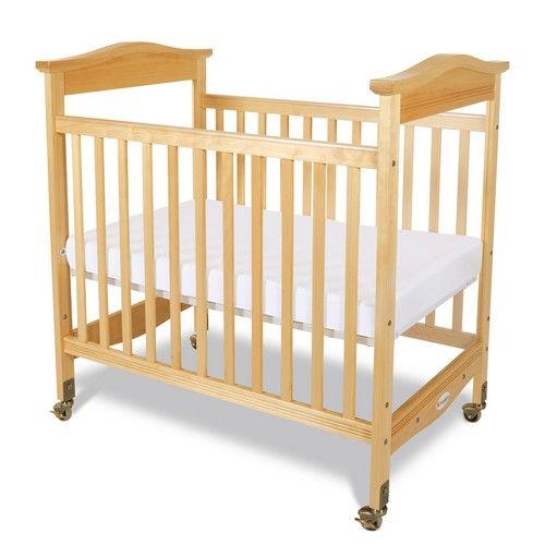 Biltmore Natural Fixed Side Compact Baby Crib Adjustable