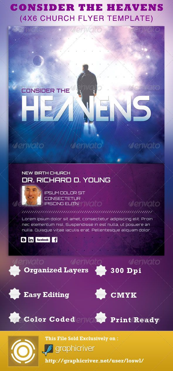 consider the heavens church flyer template flyer template gospel concert and template