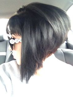 Dramatic Long Aline Haircut