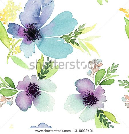Watercolor Flower Bunches Stock Photos, Images, & Pictures | Shutterstock