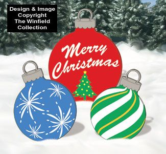 Wooden Christmas Yard Art Holiday Signs Giant Ornaments Woodcraft Pattern