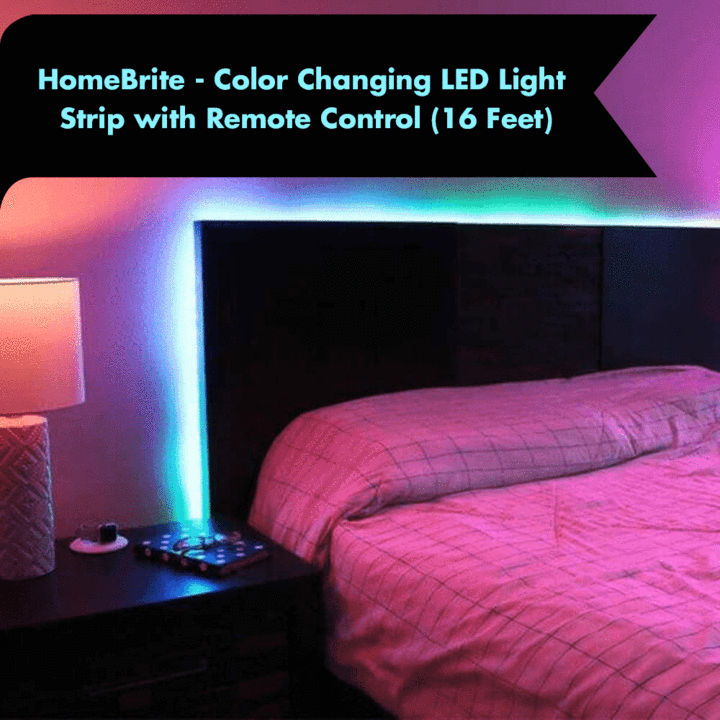 Homebrite Color Changing Led Strip With Remote Control 5