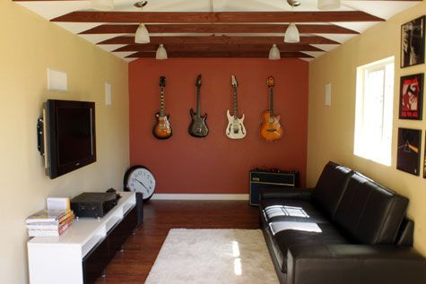 Turning A Shed Into A Man Cave Designing A Man Cave The Dos And Don Ts Mancavekingdom Com Blog Small Man Cave Man Cave Room Music Man Cave