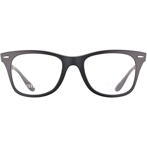 5c08cb991e9 Ray-Ban RX 7034 5204 Matte Black Wayfarer Plastic Eyeglasses-52mm (2
