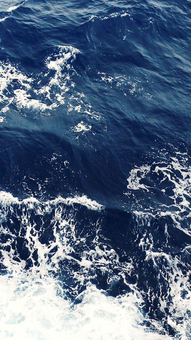 Foamy Blue Ocean Waves IPhone 5s Wallpaper