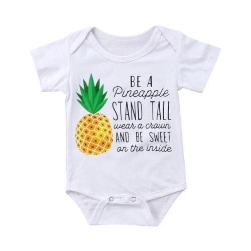 Baby Onesies Be a Pineapple 100/% Cotton Baby Jumpsuit Cute Short Sleeve Bodysuit