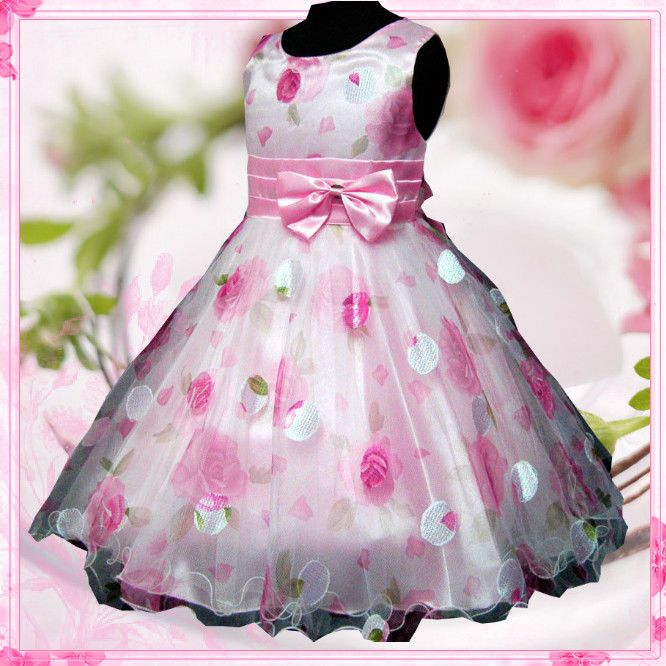 Kids Pinks Christmas Wedding Flower Girls Pageant Dresses SIZE 2-3-4 ...