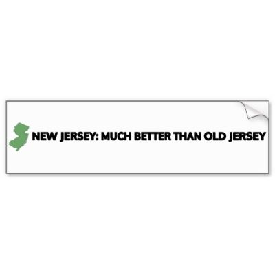 New jersey bumper stickers car stickers
