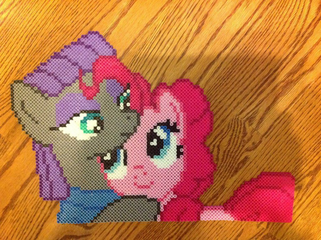 MLP The Pie Sisters (Maud and Pinkie) Perler beadsby OddishPonyGirl on DeviantArt