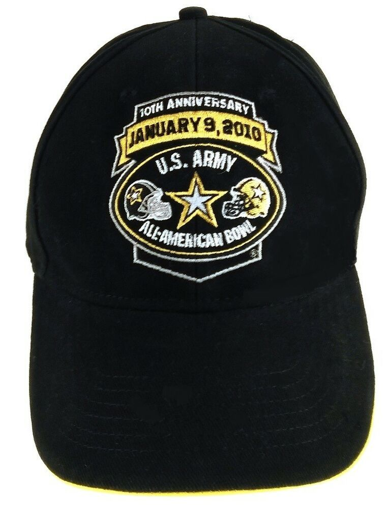 5a2263ede342a3 U.S. Army All-American Bowl 10th Anniversary January 9 2010 Strapback Hat  New #ArmyBlackKnights