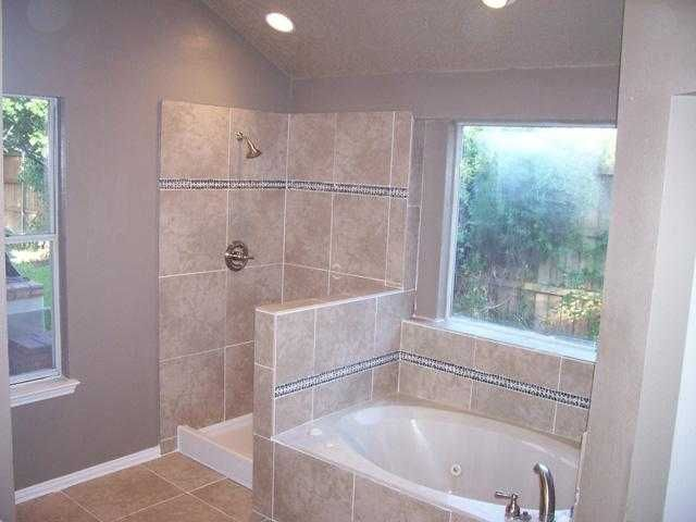 bathroom design with open shower