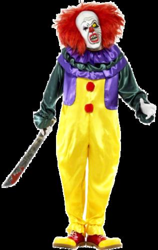 Mens Halloween Horror Carver The Killer Clown Fancy Dress Costume Pennywise New