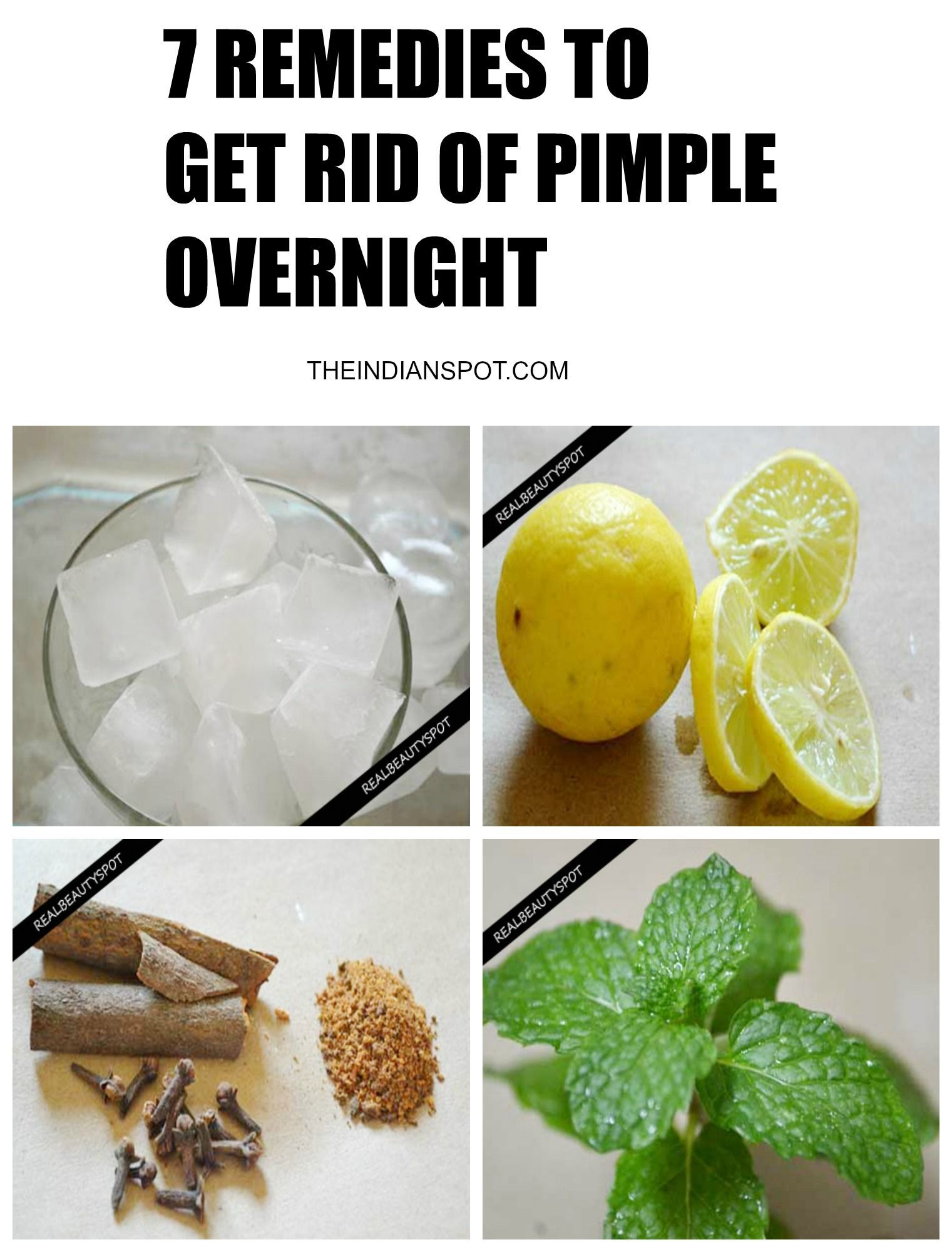 Natural ways to get rid of pimples overnight | How to get