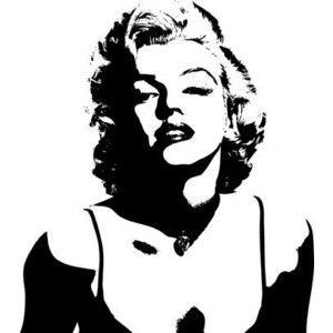 Black And White Marilyn Monroe Stencil Marilyn Monroe Silhouette Version 4 Vinyl Wall Art Decal Marilyn Monroe Stencil Marilyn Monroe Art Silhouette Art