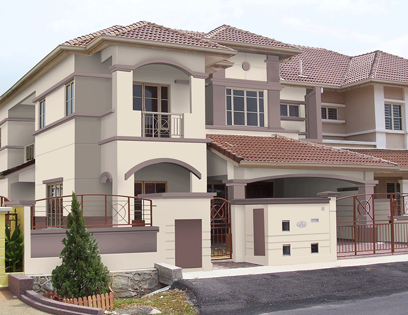 Nippon paint colour schemes for home exterior color for Terrace color combination