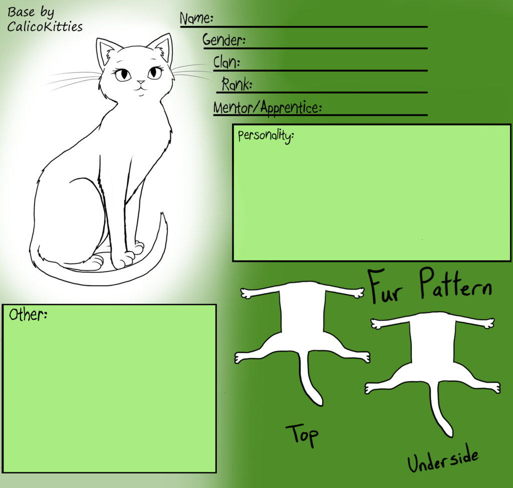 Female Warrior Cat Base By Calicokitties Warrior Cat Warrior Cats Pet Monsters