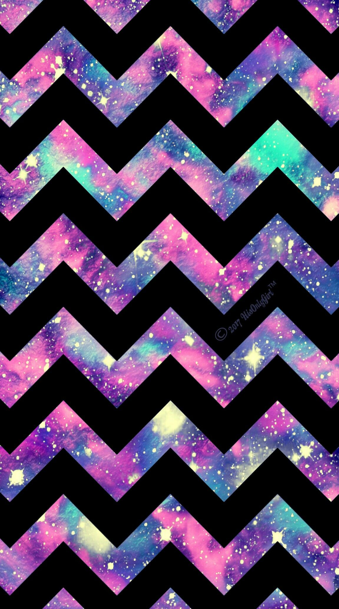 Cute Chevron galaxy iPhoneAndroid wallpaper I created