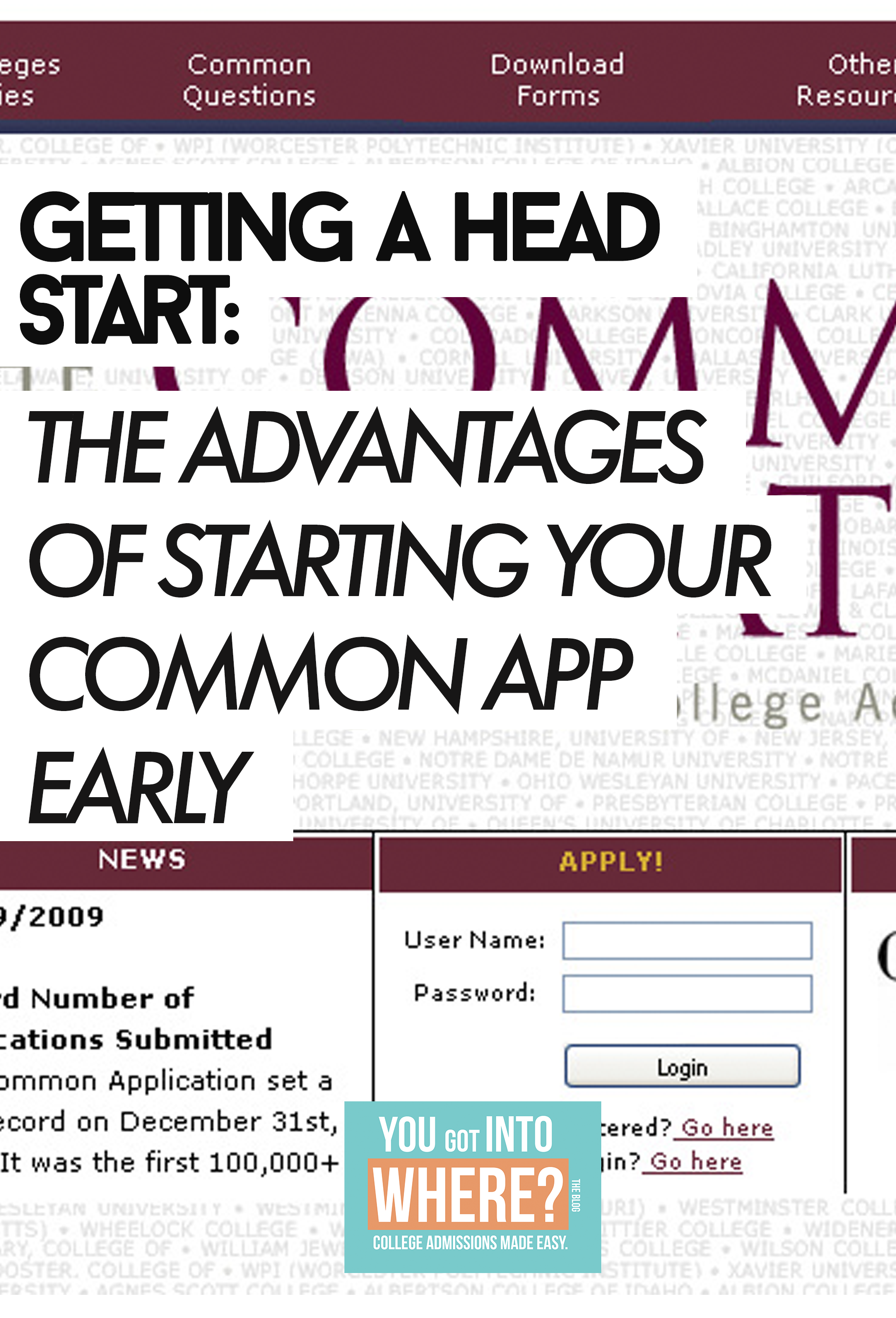 The Advantages of Starting Your Common Application Early
