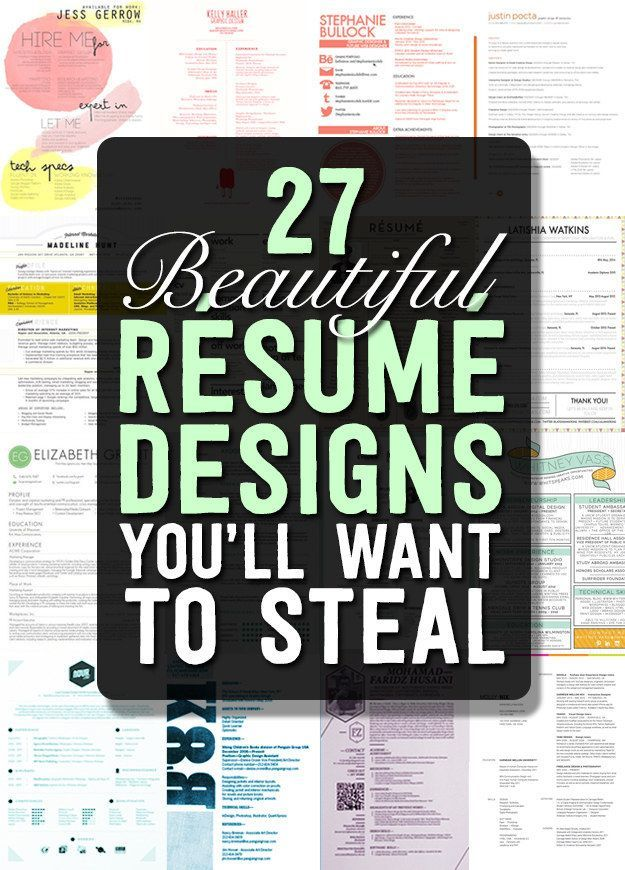 27 Beautiful Résumé Designs Youu0027ll Want To Steal Career, Job - resume designs