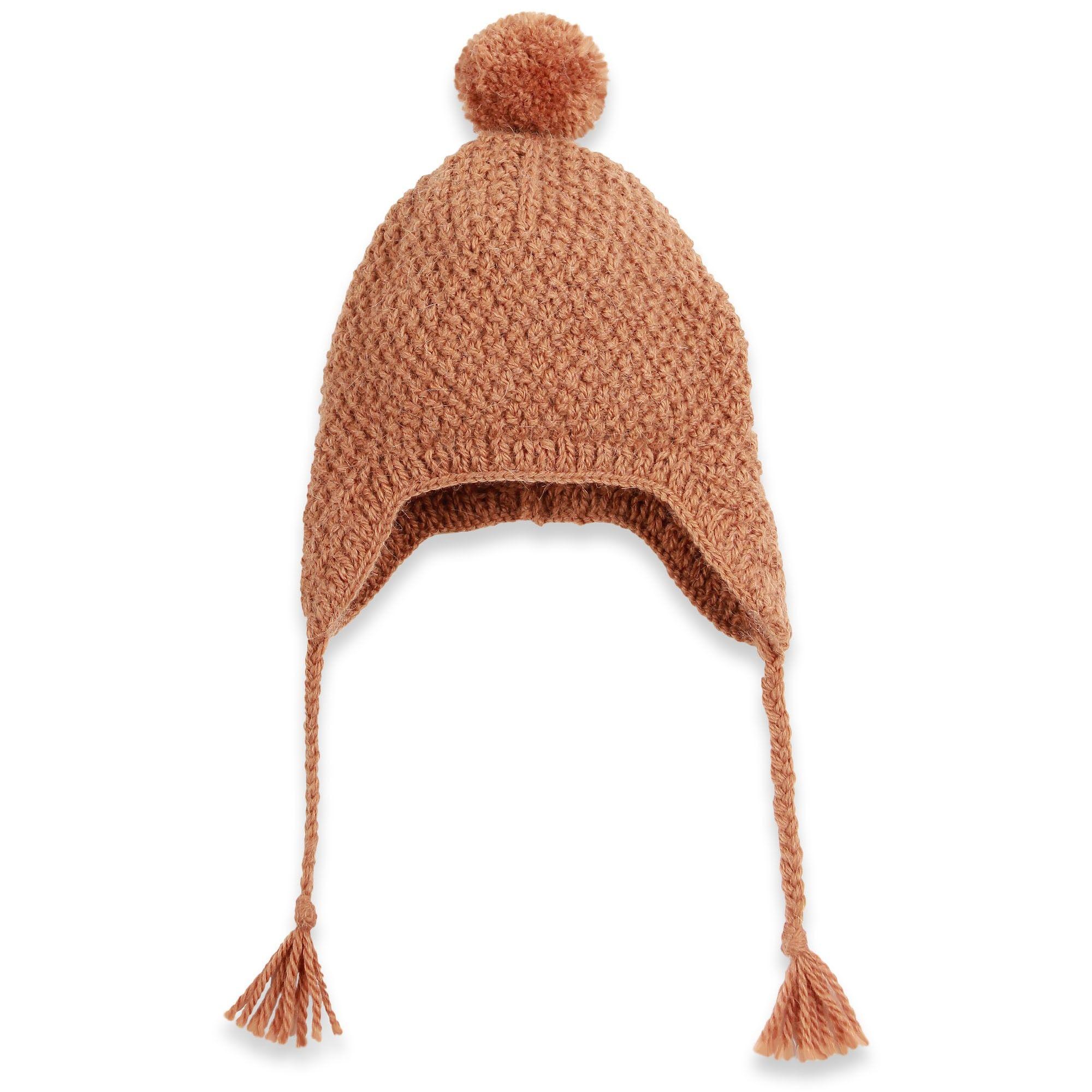 Bonnet pour bébé de la forme d un péruvien, tricoté main au point de ... bea80a91598