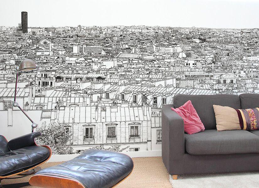 Oh-My-Wall-papier-peint-Vue-de-Paris-Tour-Eiffel-Concorde ...