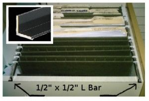 Making A Cabinet File Drawer Using L Bar Works Great For Hanging