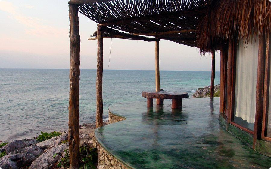 Mexico Beach Hut Hotel Tulum Resorts Porch Seaside Caribbean