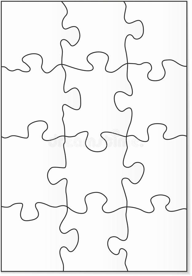 8 Piece Puzzle Template Lovely 12 Piece Puzzle Template