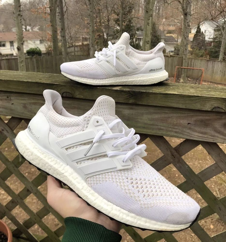 Adidas Ultra Boost 1 0 Triple White Kanye West Rare Mens 12 Og Hypebeast Running Adidas Ultra Boost Casual Shoes Adidas Boost