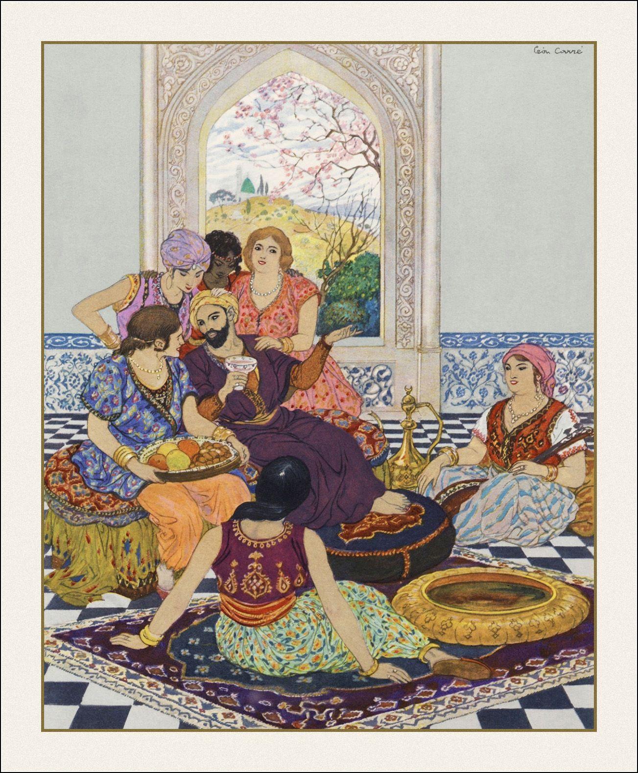 Le Livre Des Mille Et Une Nuits Illustrations De Leon Carre L Edition D Art H Piazza Paris 1932 Fairytale Illustration Cartoon Illustration Arabian Nights