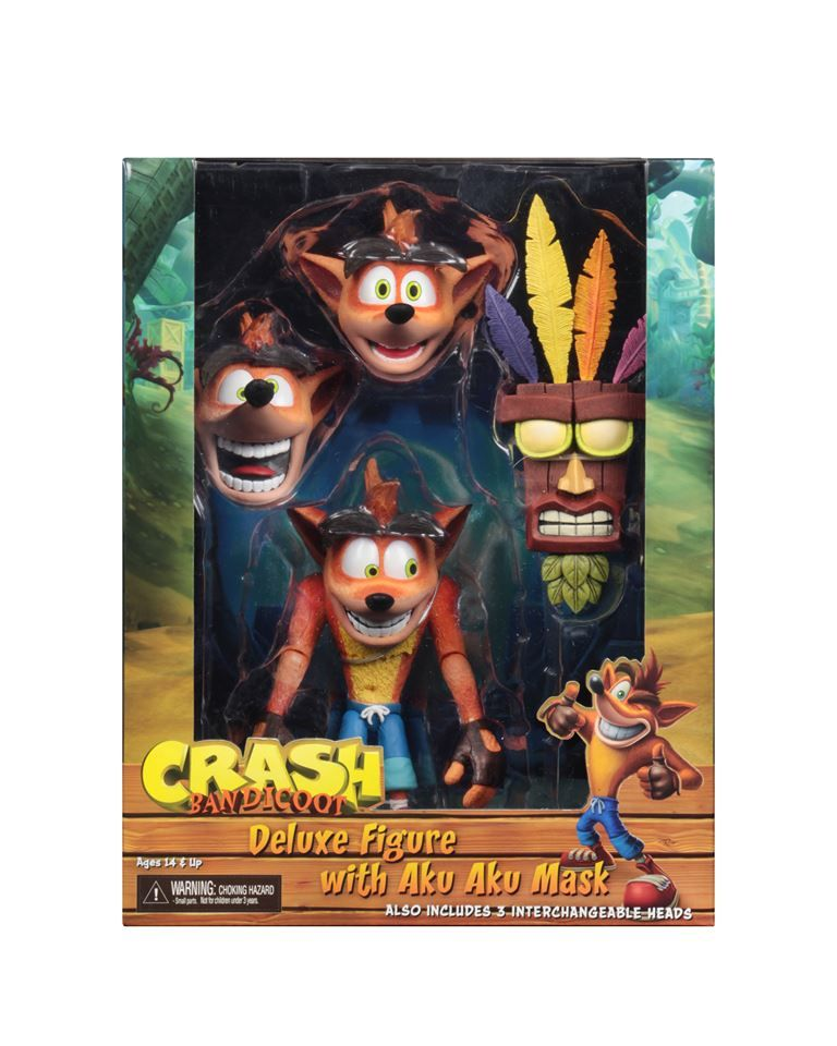 Crash Bandicoot Painted Statue 9inches Figure Toy Doll New no Box