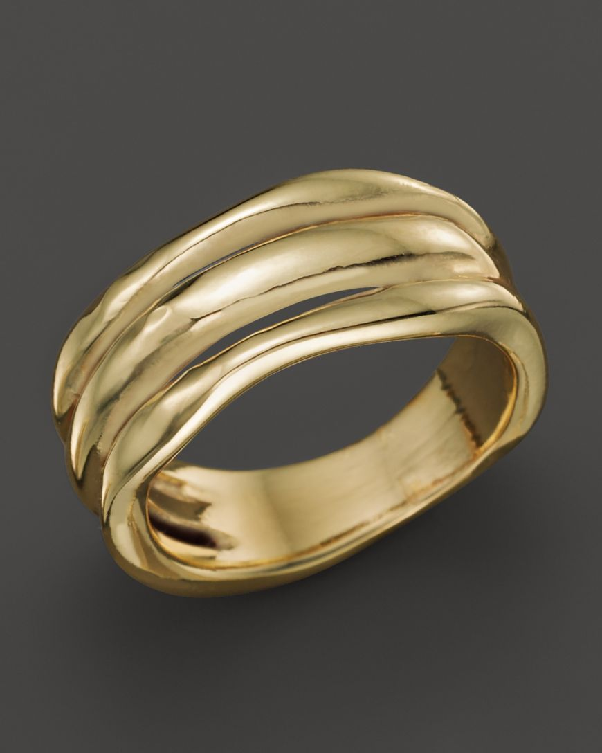 Girls the gold triple band thumb ring