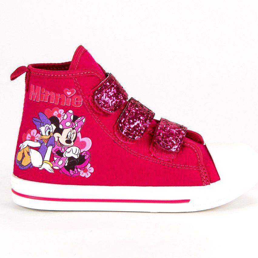 Buty Sportowe Dzieciece Dla Dzieci Butymodne Rozowe Trampki Na Rzepy Myszki Miki High Top Sneakers Shoes Sneakers