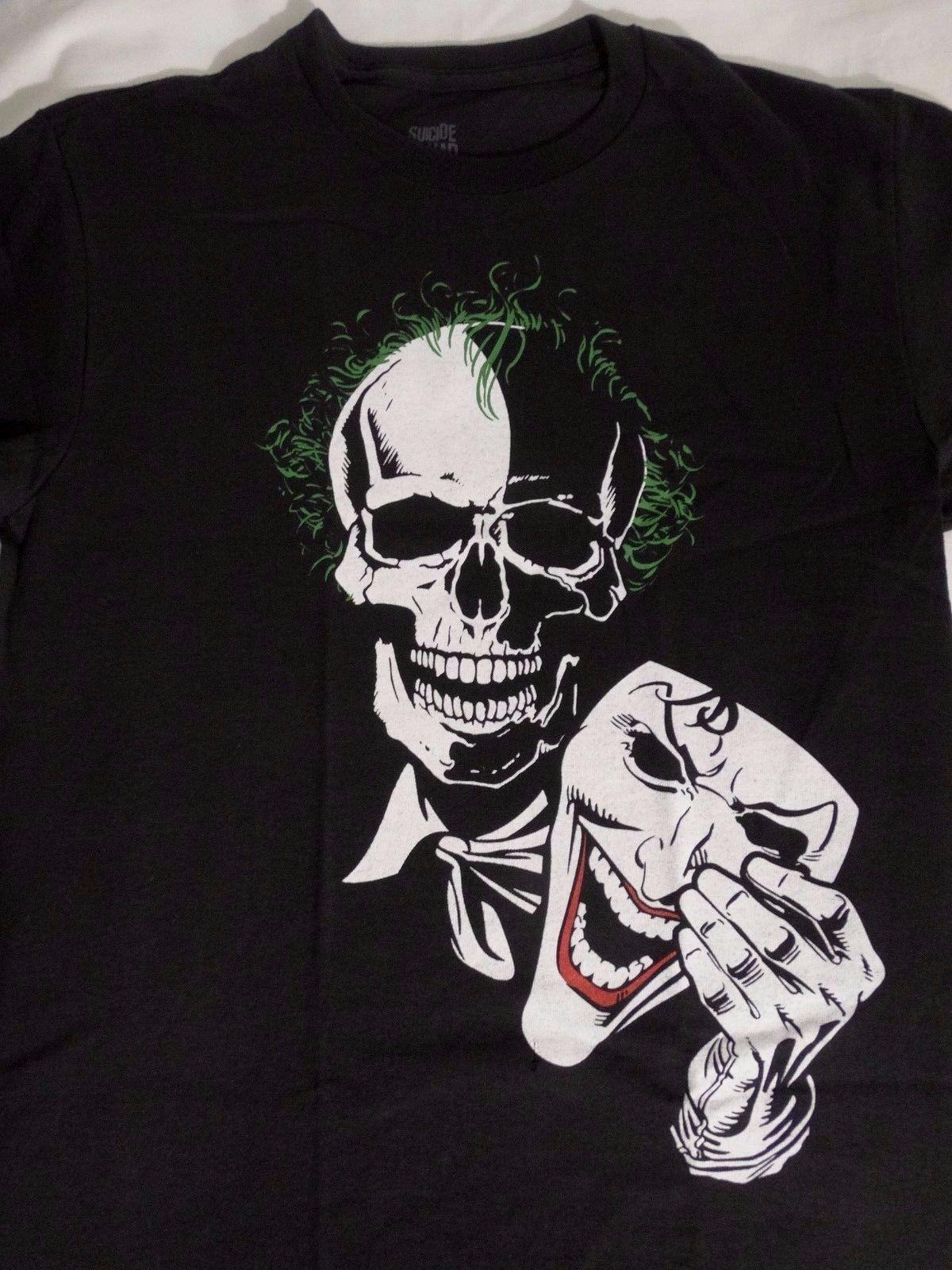 Suicide Squad Joker Skull Holding Mask Dc Comics T Shirt