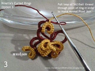 muskaan's T*I*P*S: Tatting Tutorial : Curled Ring Options