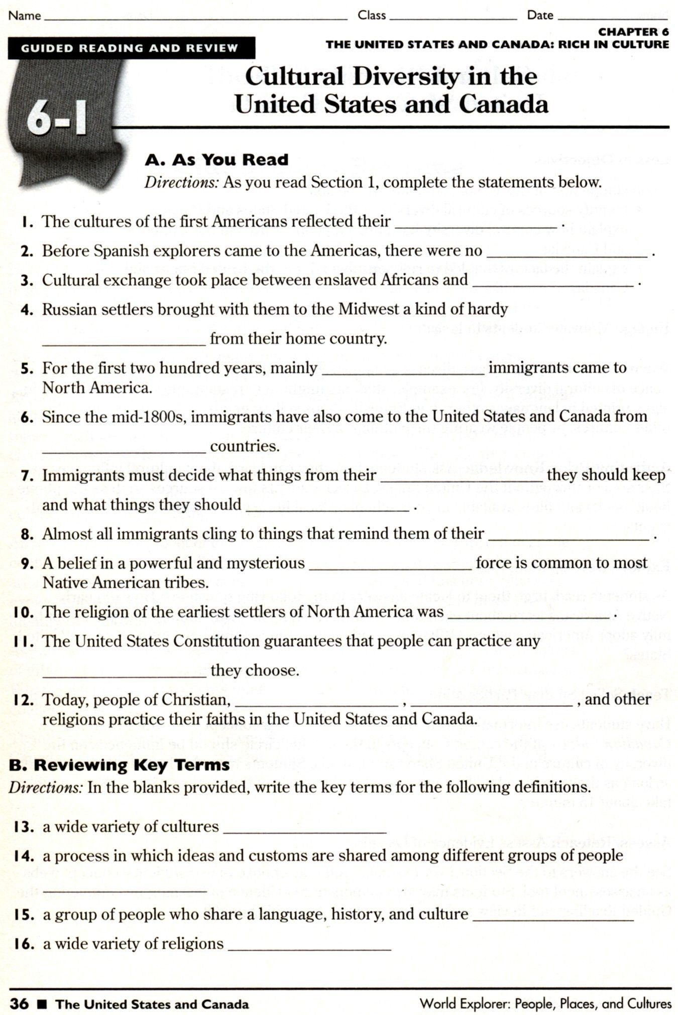 hight resolution of 7th Grade Social Stu S Map Worksheets   Printable Worksheets and Activities  for Teachers